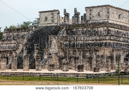 Temple Of A Thousand Warriors In Chichen Itza