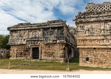 Ancient Mayan Governmental Palace In Chichen Itza