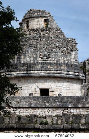 El Caracol Tower In Chichen Itza