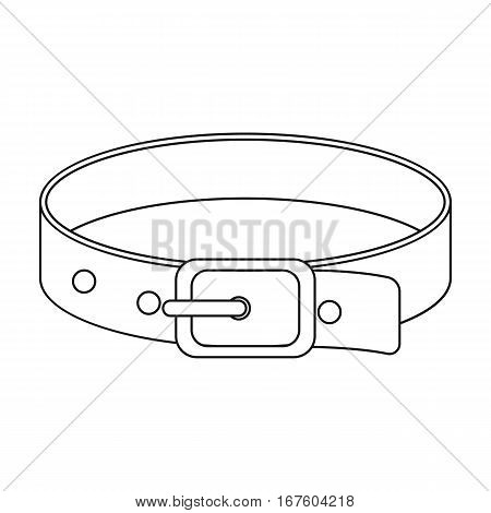 Pet collar icon of vector illustration for web and mobile design - stock vector