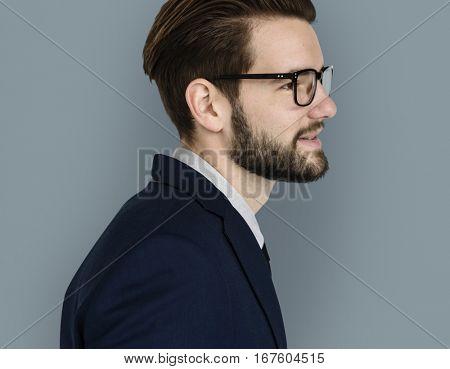 Caucasian Business Man Smiling
