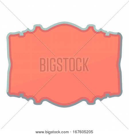 Shaped label icon. Cartoon illustration of shaped label vector icon for web