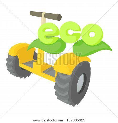 Segway icon. Cartoon illustration of segway vector icon for web