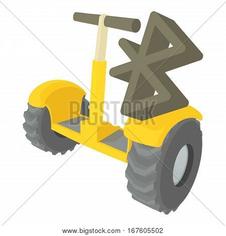 Segway coonection icon. Cartoon illustration of segway coonection vector icon for web
