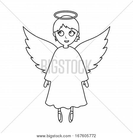 Soul icon in outline design isolated on white background. Funeral ceremony symbol stock vector illustration. - stock vector