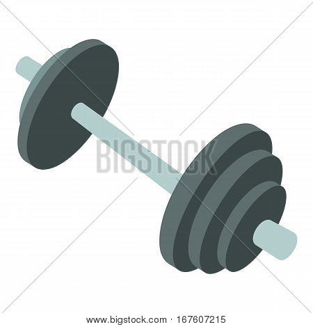 Barbell icon. Cartoon illustration of barbell vector icon for web