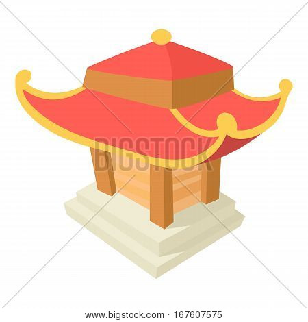 Asian pagoda icon. Cartoon illustration of asian pagoda vector icon for web