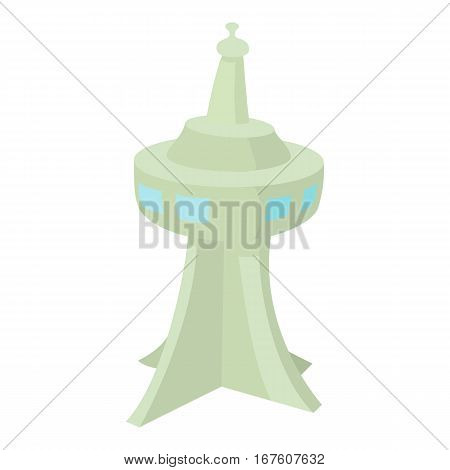 Television tower icon. Cartoon illustration of television tower vector icon for web