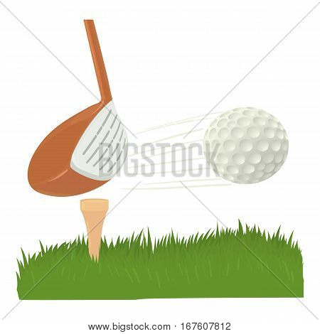 Hit golf ball icon. Cartoon illustration of hit golf ball vector icon for web