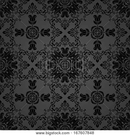 Oriental vector classic dark pattern. Seamless abstract background with repeating elements. Orient background