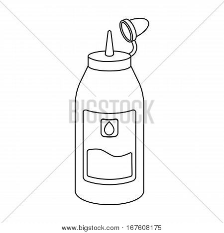 Ink in outline style isolated on white background. Typography symbol vector illustration. - stock vector