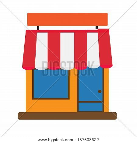 storefront icon on white background. storefront sign.