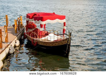 Boat in the golden horn in Istanbul Turkey