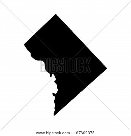 map of the U.S. District of Columbia vector