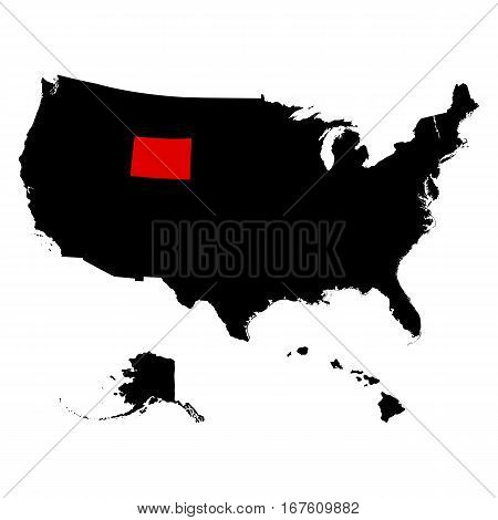 U.S. state on the U.S map Wyoming vector