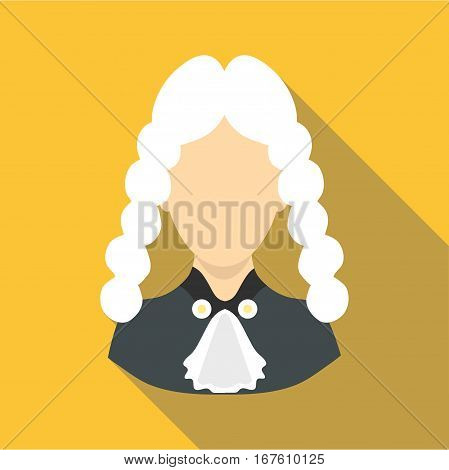 Judge icon. Flat illustration of judge vector icon for web design
