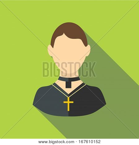Priest icon. Flat illustration of priest vector icon for web design