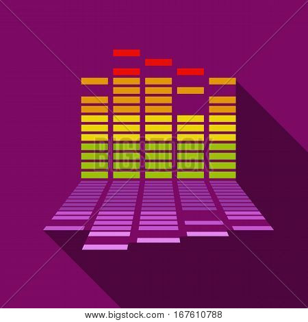 Equalizer icon. Flat illustration of equalizer vector icon for web design