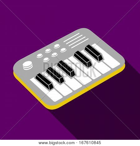 Electronic piano icon. Flat illustration of electronic piano vector icon for web design