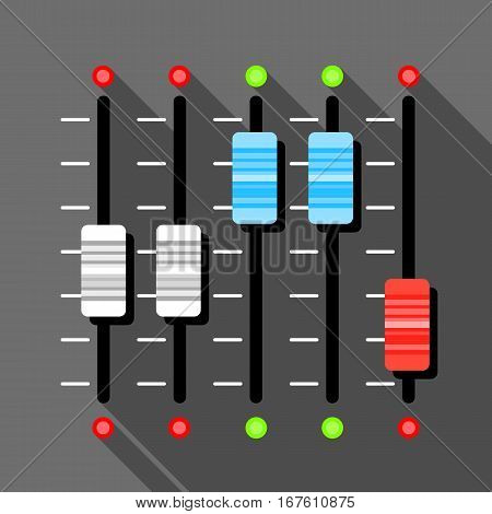 Sound mixer pult icon. Flat illustration of sound mixer pult vector icon for web design