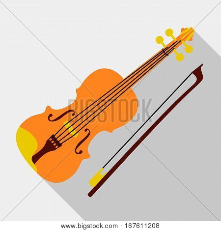 Violin icon. Flat illustration of violin vector icon for web design