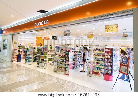Kuala Lumpur, Malaysia -  January 29, 2017: Guardian Pharmacy Is Healthcare Chain Retailer With More