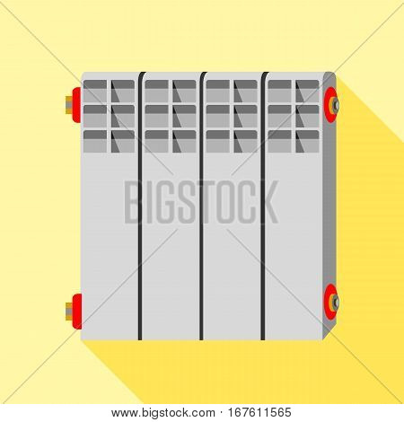 Radiator icon. Flat illustration of radiator vector icon for web design