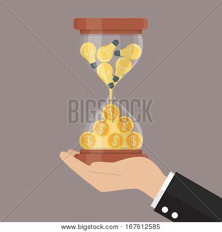 Idea is money. Creativity business concept vector