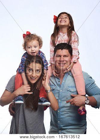 Happy Hispanic Family
