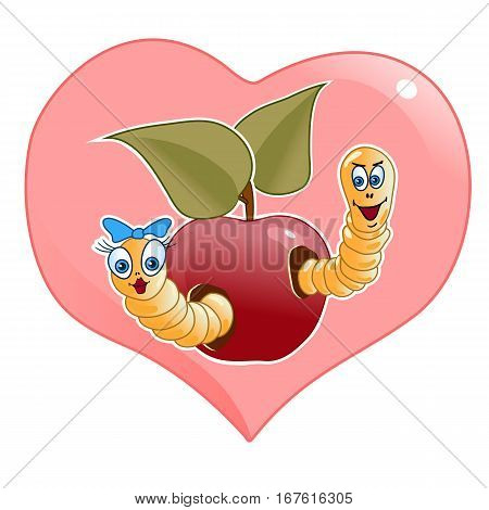 heart worms apple man woman family house