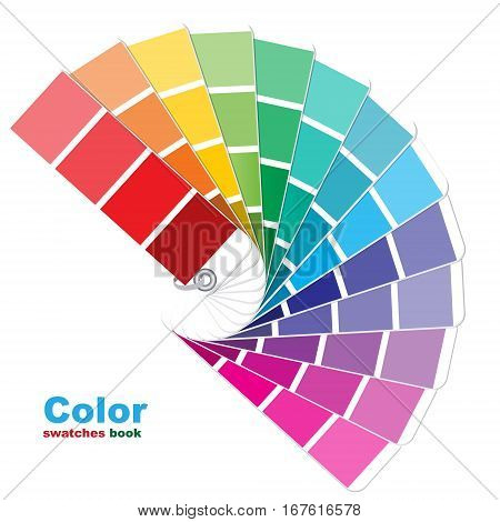 The coloured swatches book. The vector illustration.