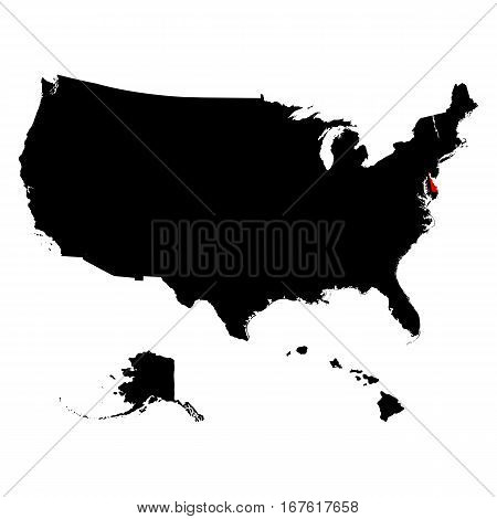 map of the U.S. state of Delaware