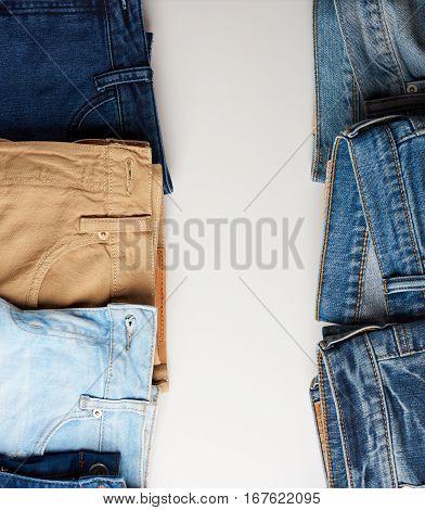 Vertical Frame Of Jeans Boarder