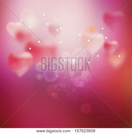 Blurred Heart. Sparkling