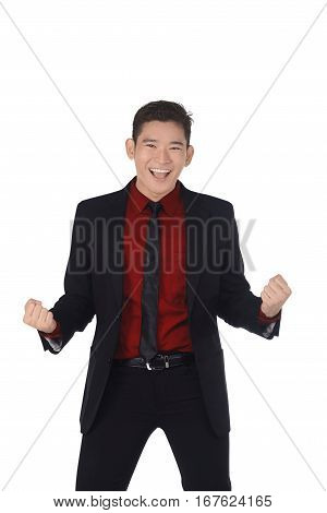 Handsome Asian Businessman With Happy Expression