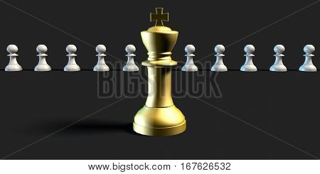 Perfect Job Candidate Business Chess Concept Art 3D Illustration Render
