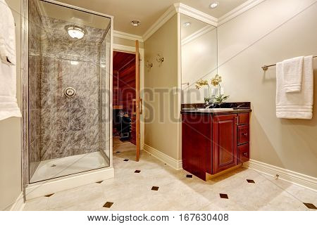 Luxurious Bathroom Interior Design With Sauna