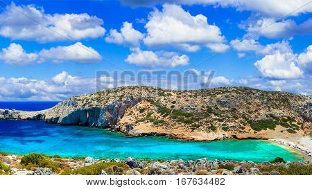 Turquoise wild beaches of Greece - Kounoupa in Astypalea island