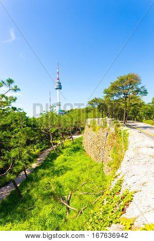 Seoul N Namsan Tower City Wall Nature Road V
