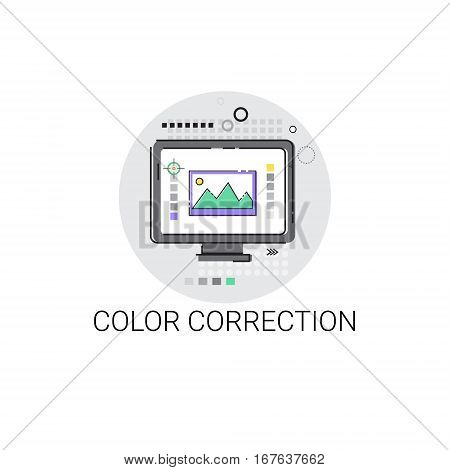 Color Correction Camera Film Production Industry Icon Vector Illustration