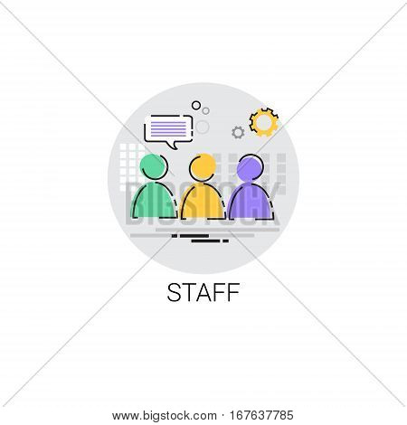 Casting Staff Camera Film Production Industry Icon Vector Illustration