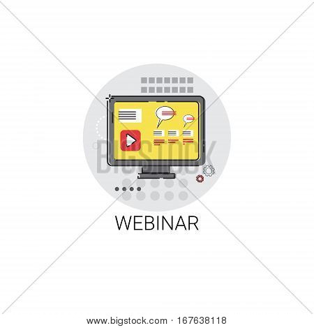 Knowledge Webinar Elearning Education Online Icon Vector Illustration