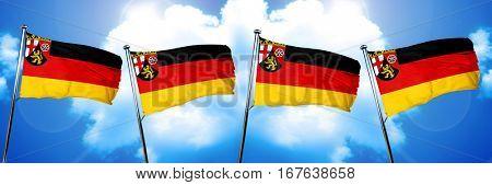 Rhineland Platinate, Rheinland Pfalz flag, 3D rendering