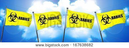 Rabies flag, 3D rendering