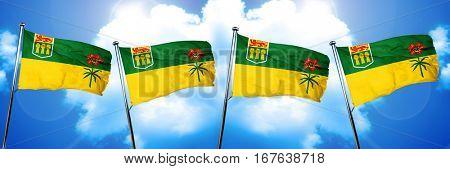 Saskatchewan flag, 3D rendering