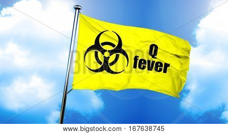 Q fever flag, 3D rendering