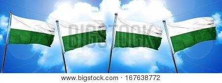 Saxony / Sachsen flag, 3D rendering