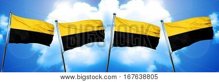 Saxony Anhalt, Sachsen Anhalt flag, 3D rendering