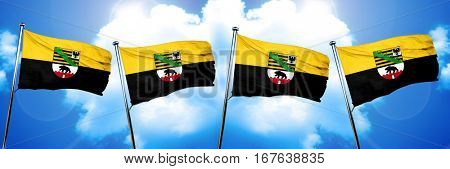 Saxony anhalt, sachsen flag, 3D rendering