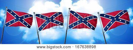 Rebel symbol flag, 3D rendering